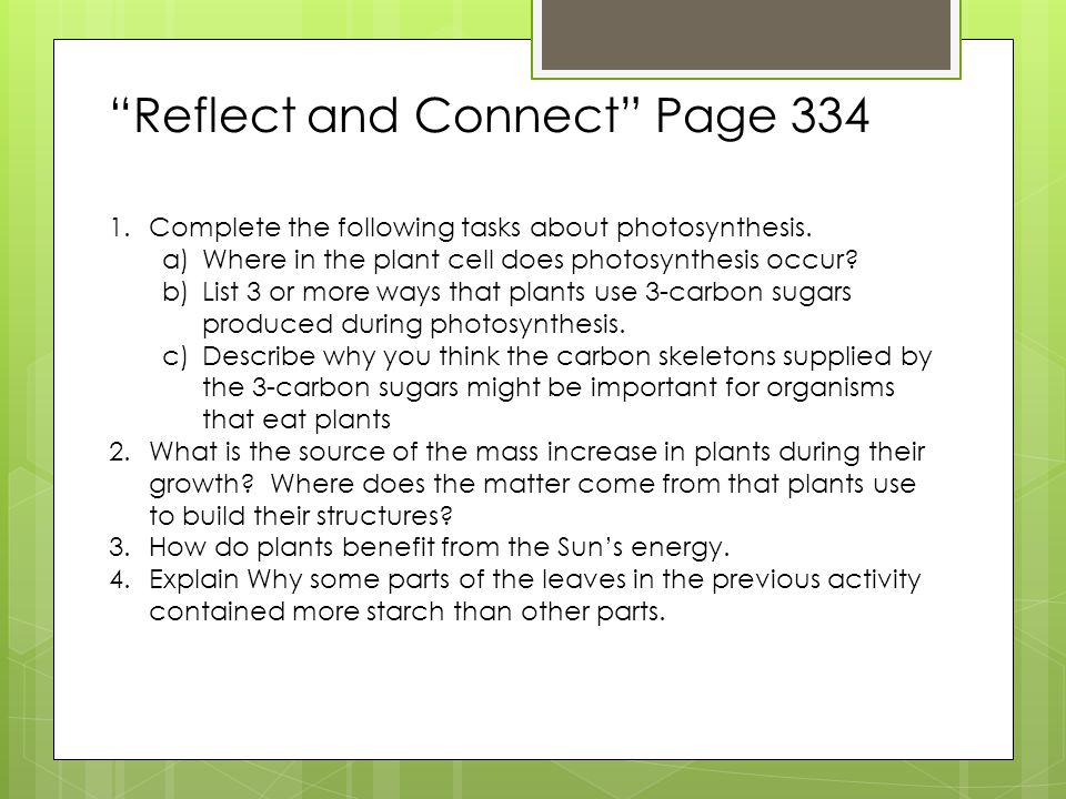 Reflect and Connect Page 334