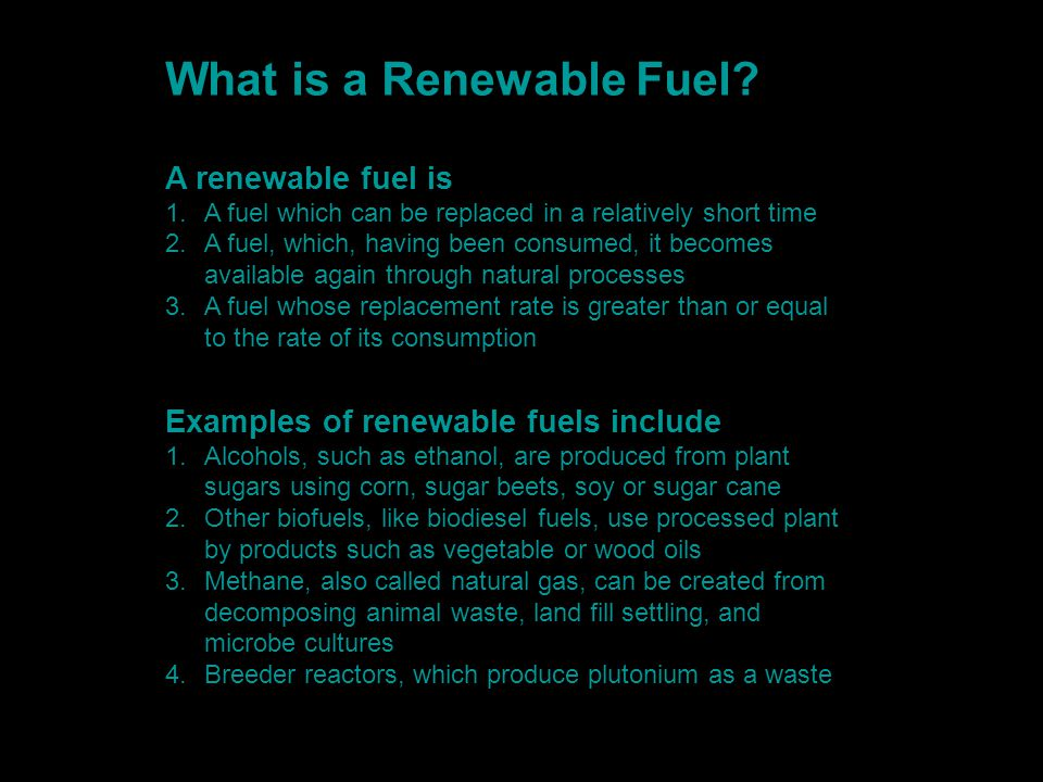 What is a Renewable Fuel