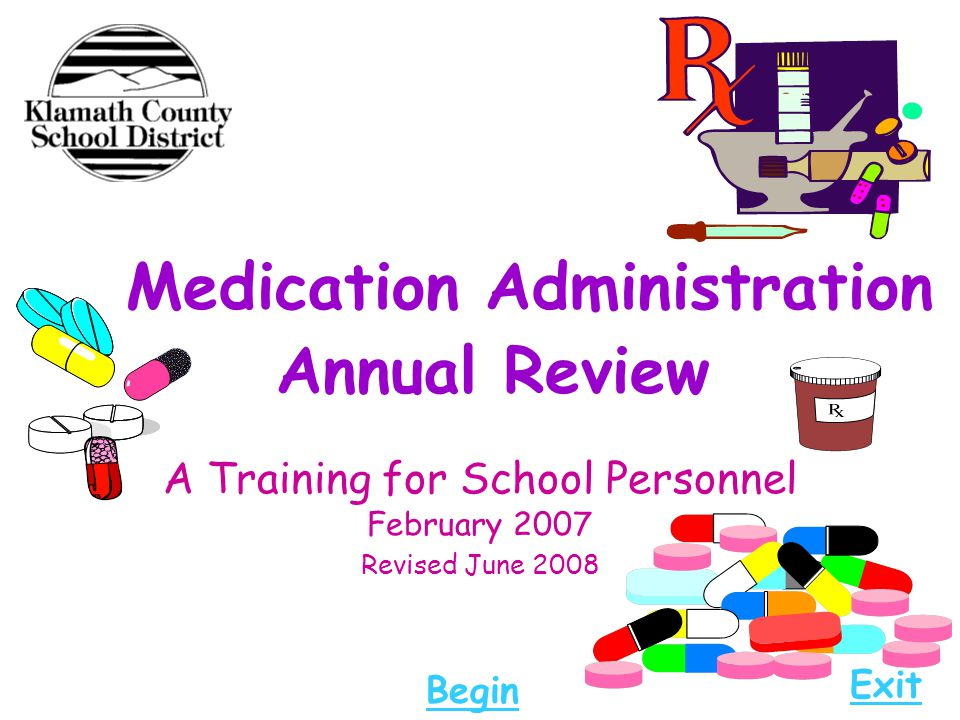 Medication Administration Annual Review