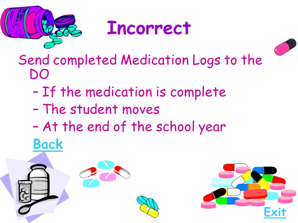 Incorrect Send completed Medication Logs to the DO