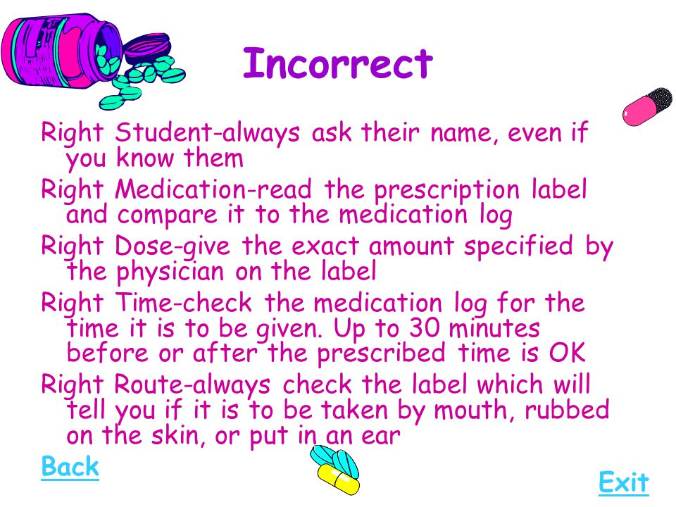 Incorrect Right Student-always ask their name, even if you know them