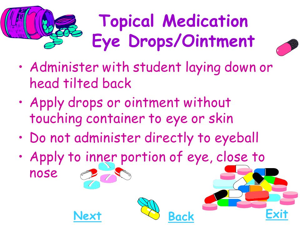 Topical Medication Eye Drops/Ointment