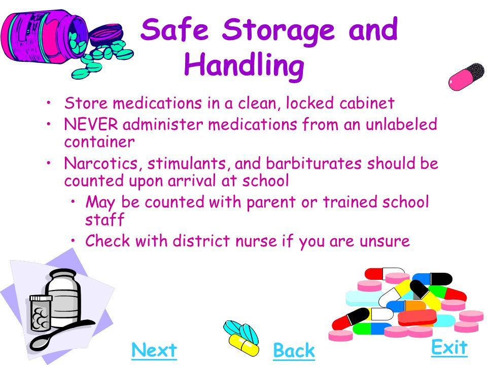 Safe Storage and Handling