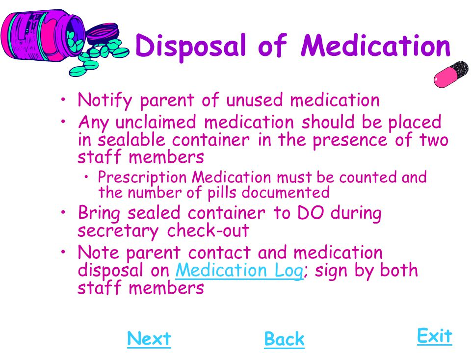 Disposal of Medication