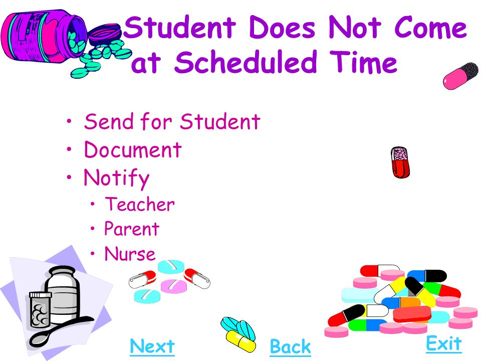 Student Does Not Come at Scheduled Time