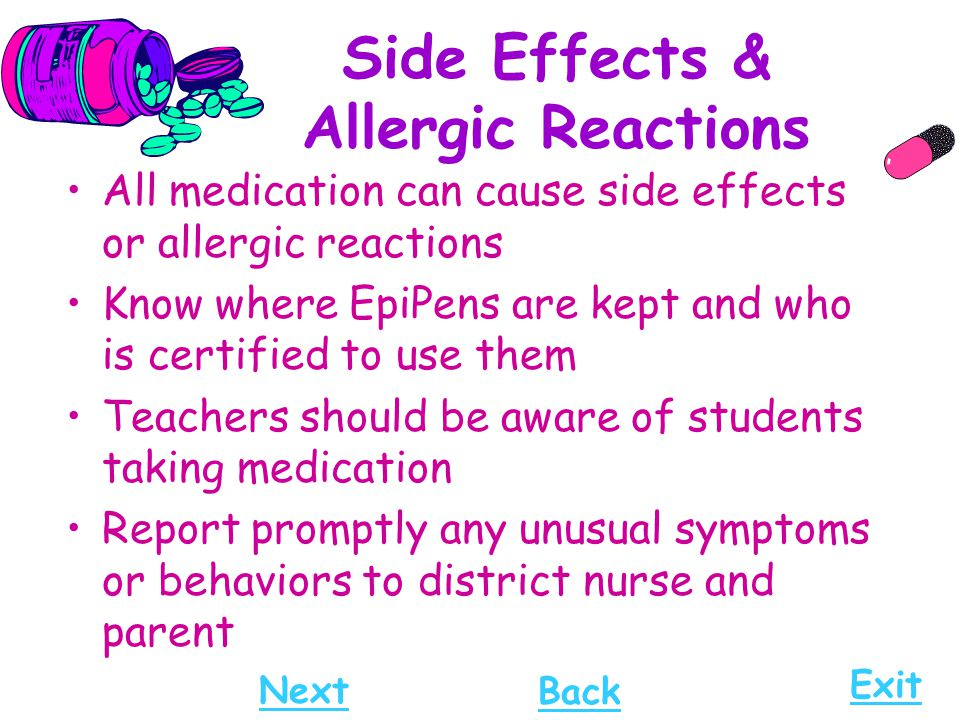 Side Effects & Allergic Reactions