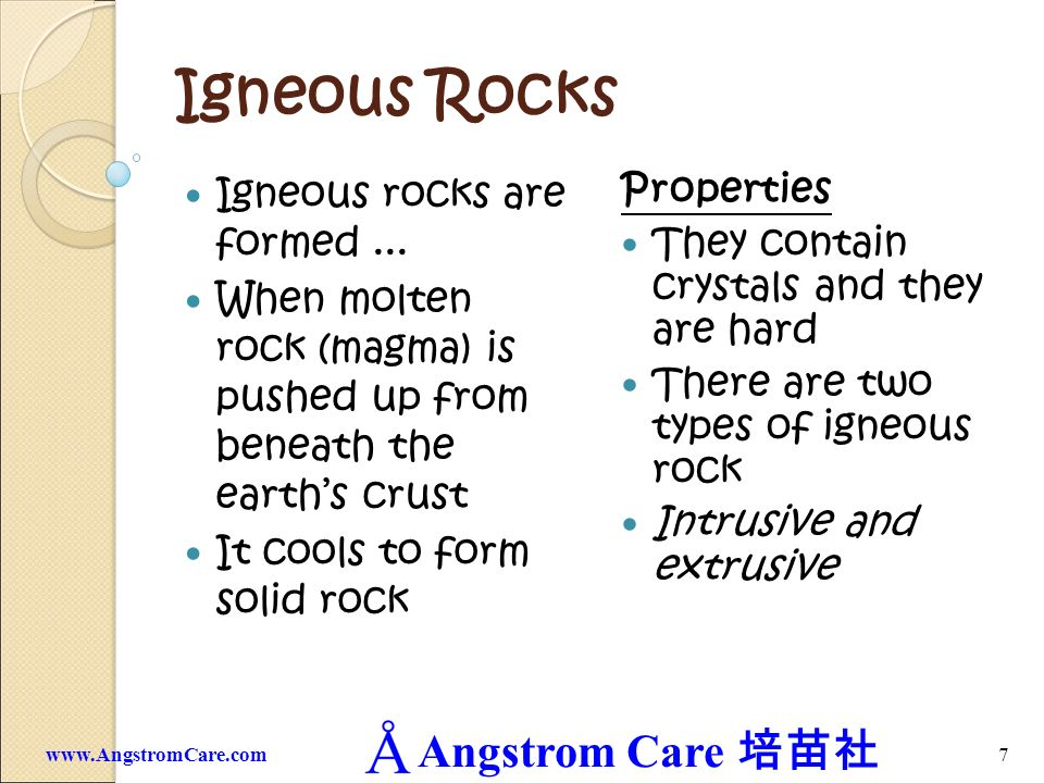 Igneous Rocks Igneous rocks are formed ...