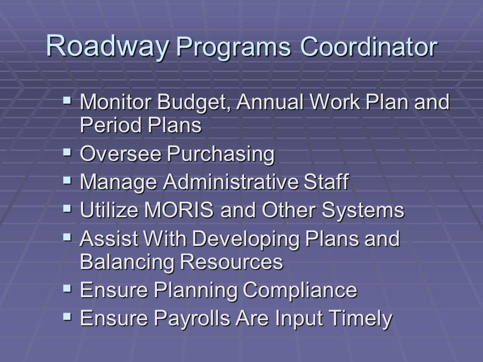Roadway Programs Coordinator