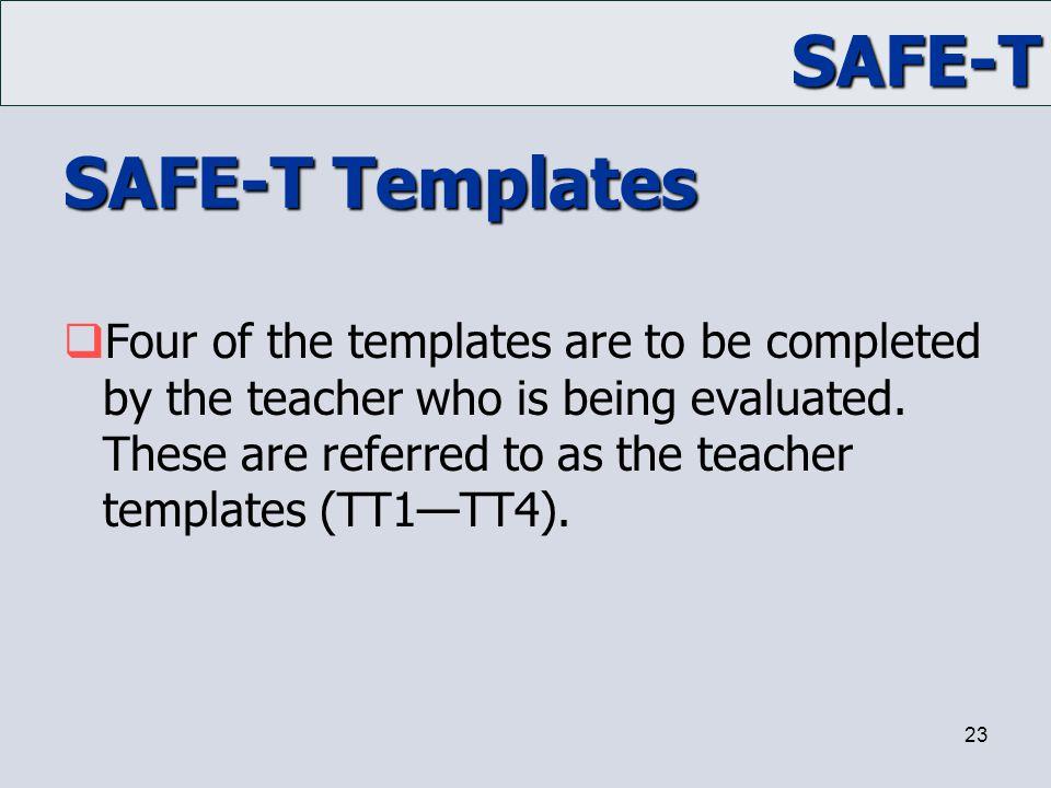 SAFE-T Templates