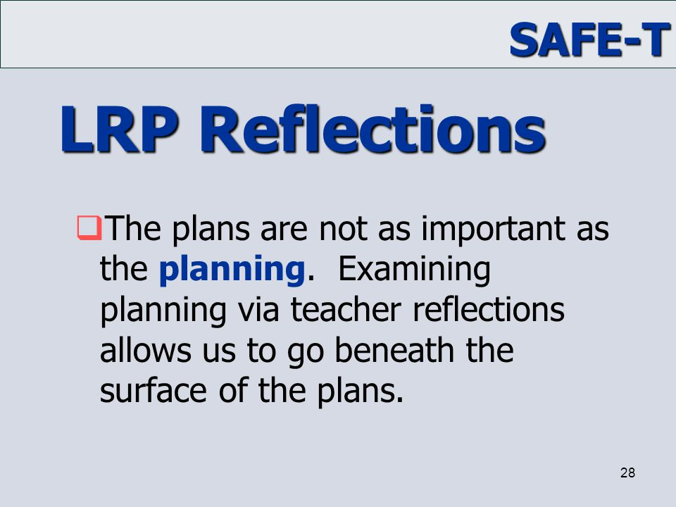 LRP Reflections