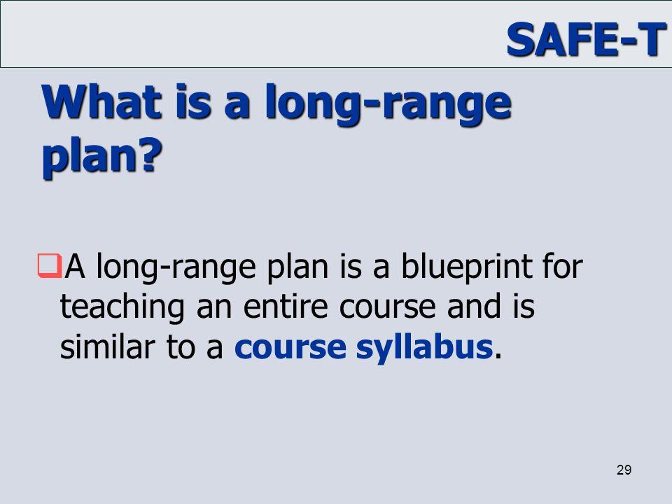 What is a long-range plan