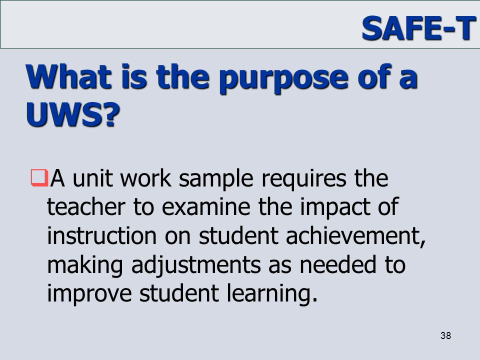 What is the purpose of a UWS