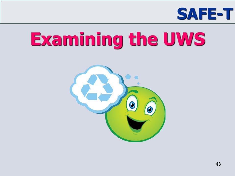 Examining the UWS Trainer Notes: ACTIVITY: Examining the UWS
