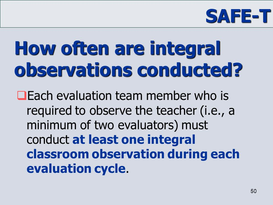 How often are integral observations conducted