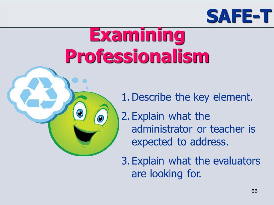 Examining Professionalism