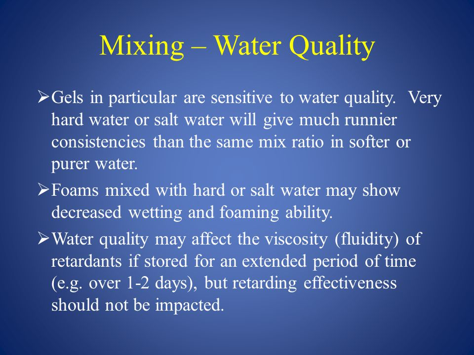 Mixing – Water Quality