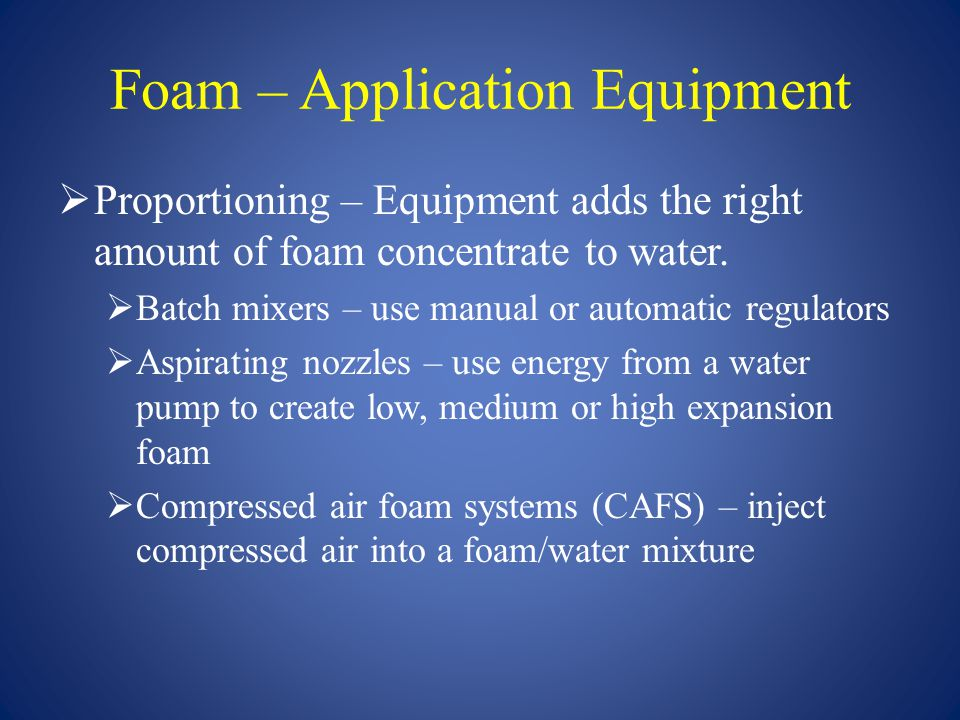 Foam – Application Equipment