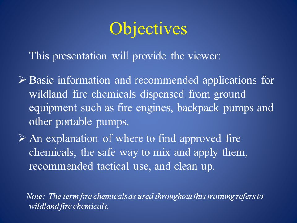 Objectives This presentation will provide the viewer: