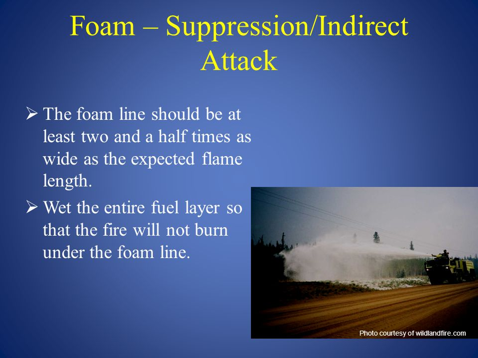 Foam – Suppression/Indirect Attack