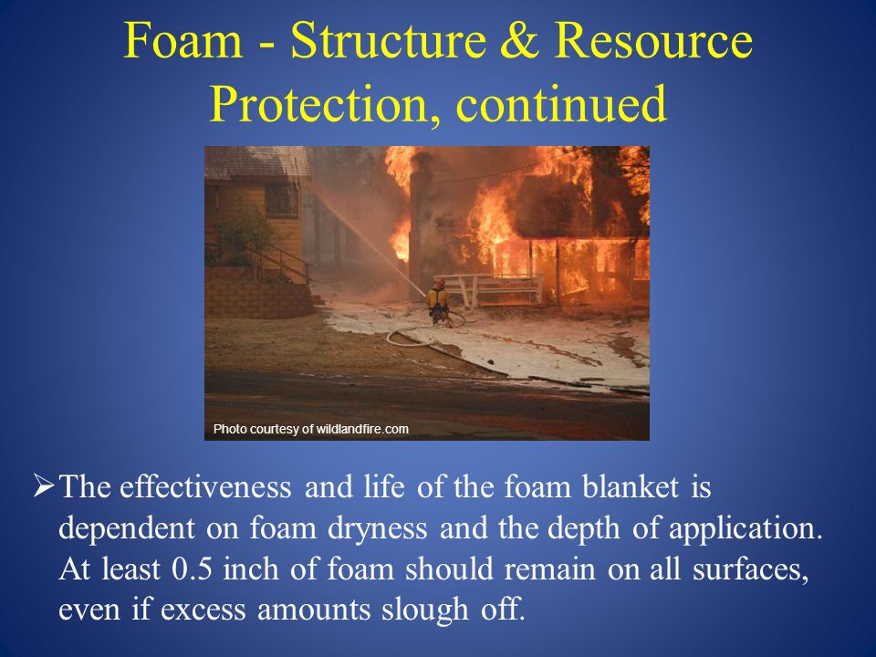 Foam - Structure & Resource Protection, continued