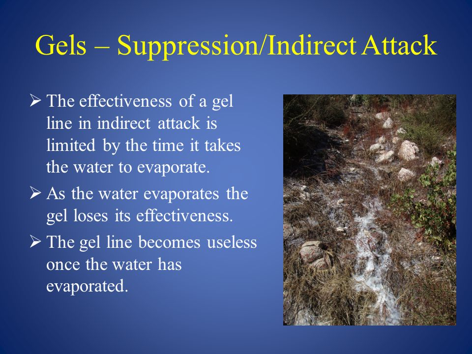 Gels – Suppression/Indirect Attack