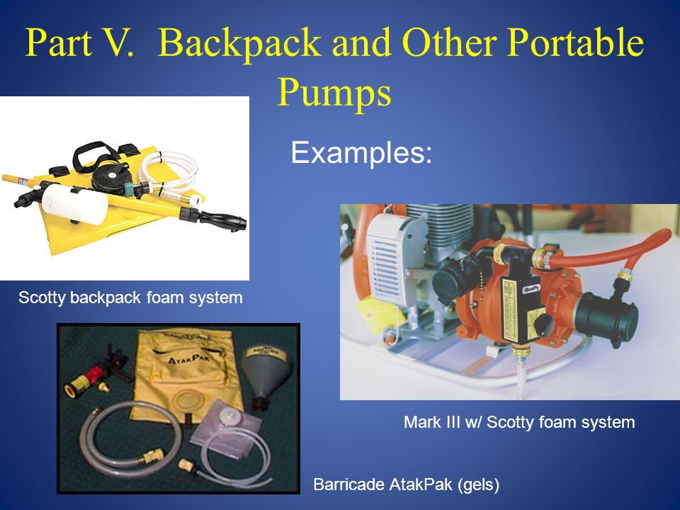 Part V. Backpack and Other Portable Pumps