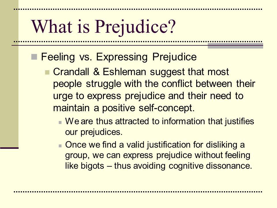 What is Prejudice Feeling vs. Expressing Prejudice