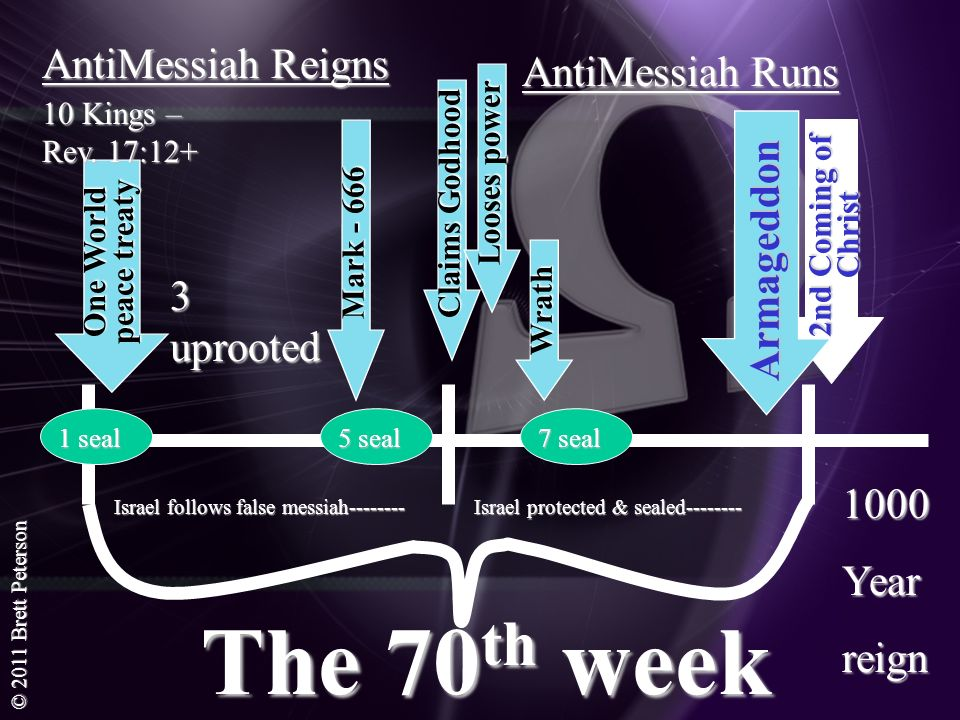 The 70th week AntiMessiah Reigns AntiMessiah Runs Armageddon
