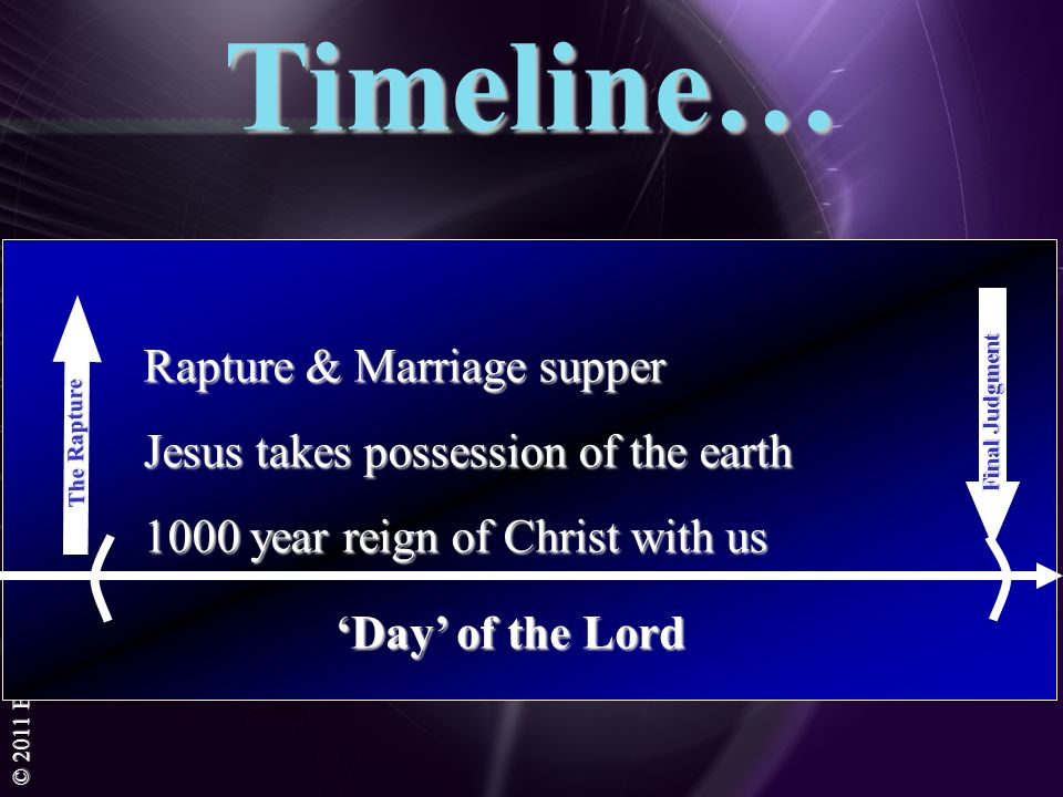 Timeline… Rapture & Marriage supper