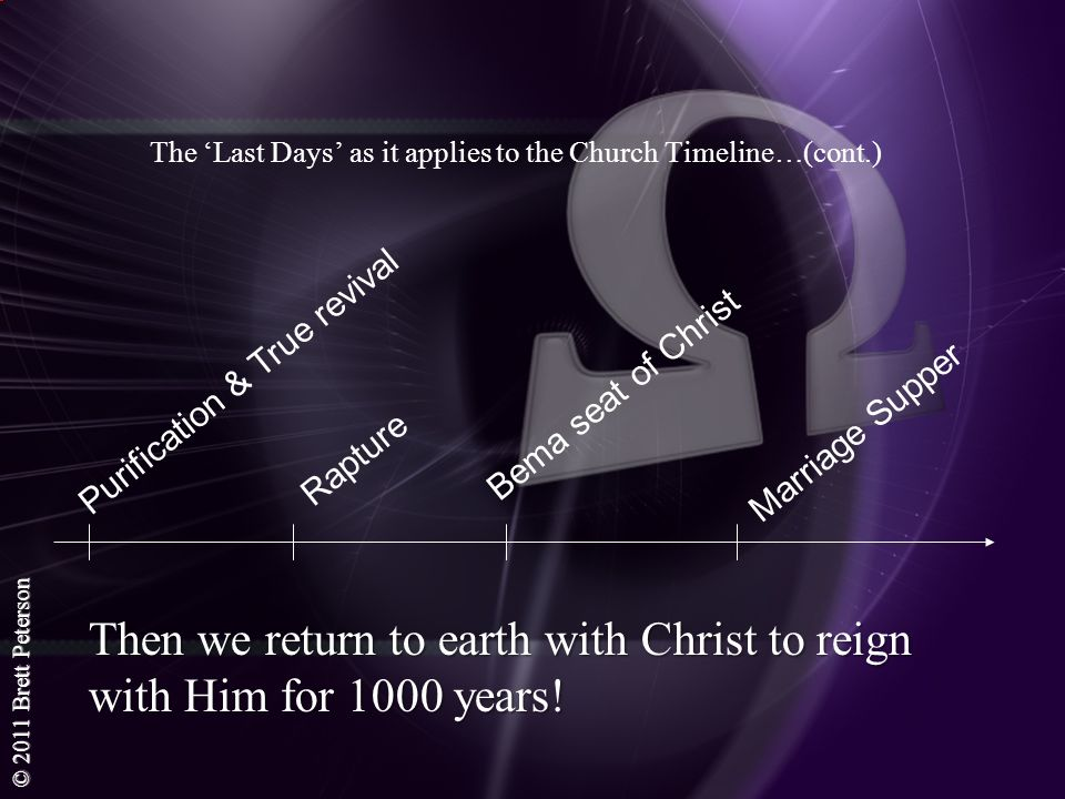 The 'Last Days' as it applies to the Church Timeline…(cont.)