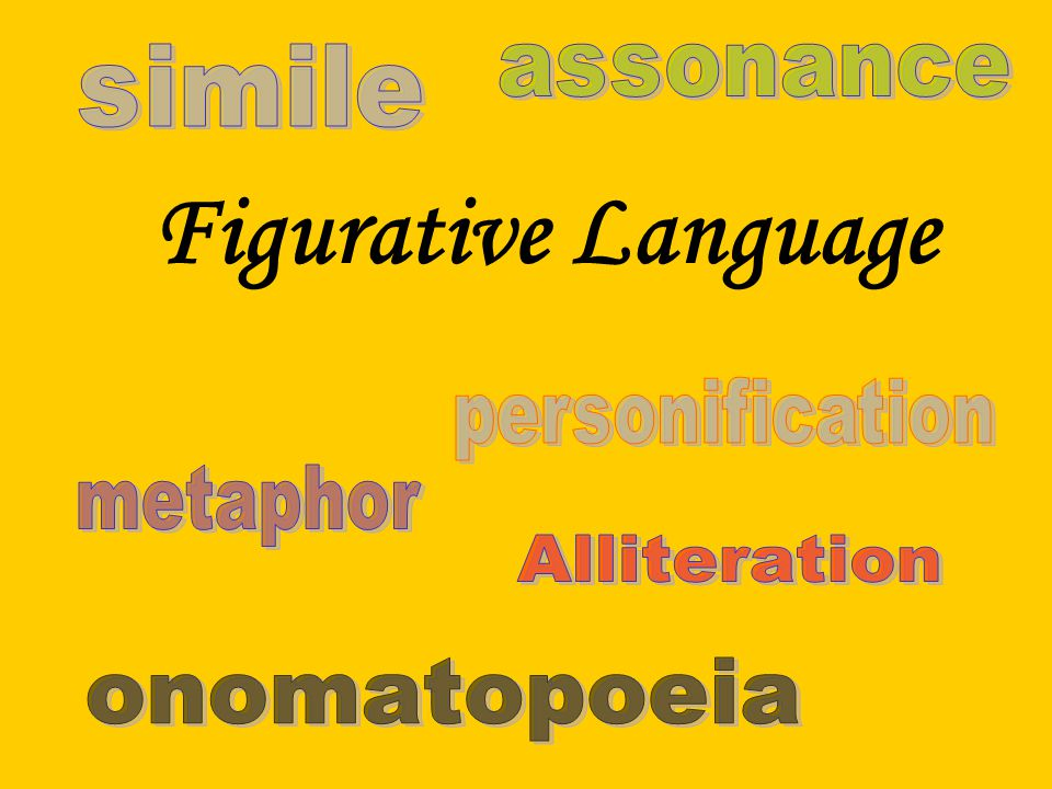 Figurative Language simile assonance personification metaphor