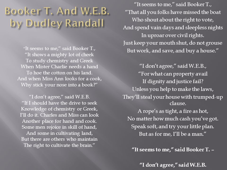 Booker T. And W.E.B. by Dudley Randall