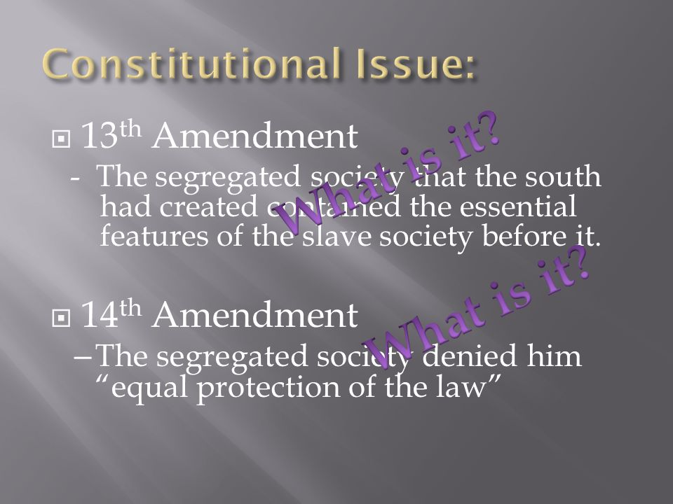 Constitutional Issue: