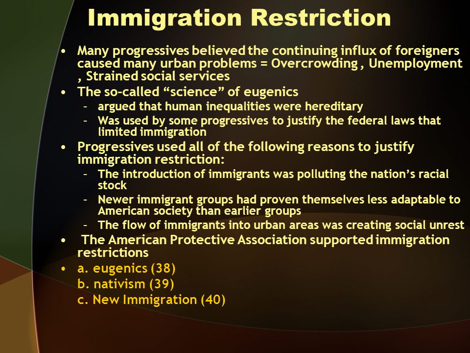 Immigration Restriction