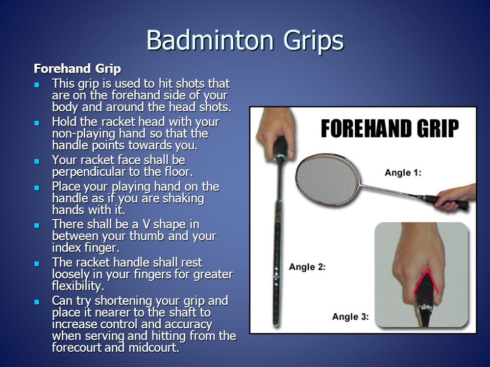 Badminton Grips Forehand Grip