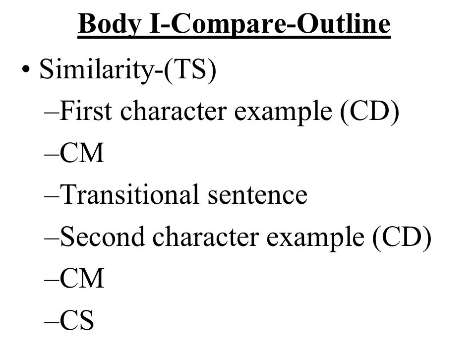 Body I-Compare-Outline