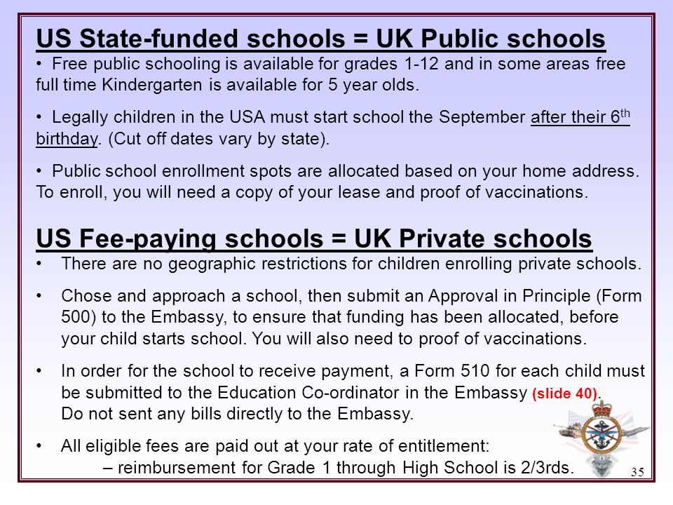 US State-funded schools = UK Public schools