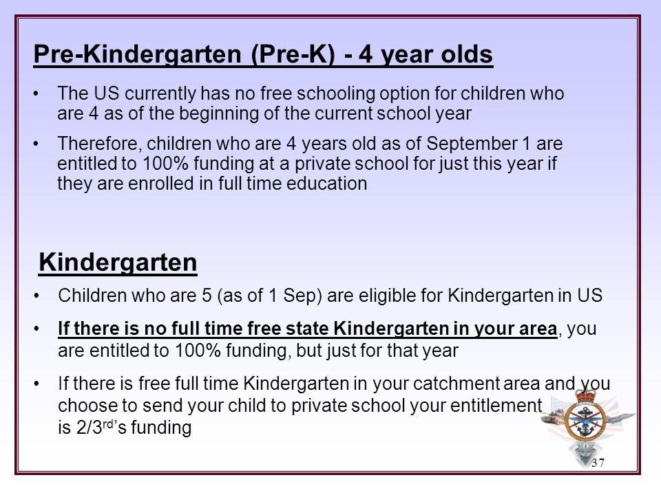 Pre-Kindergarten (Pre-K) - 4 year olds