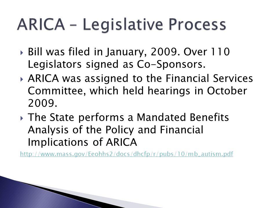 ARICA – Legislative Process