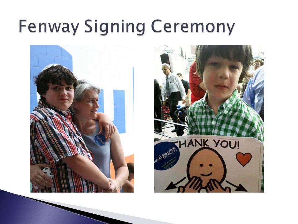 Fenway Signing Ceremony