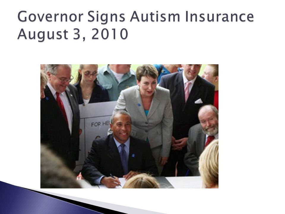 Governor Signs Autism Insurance August 3, 2010
