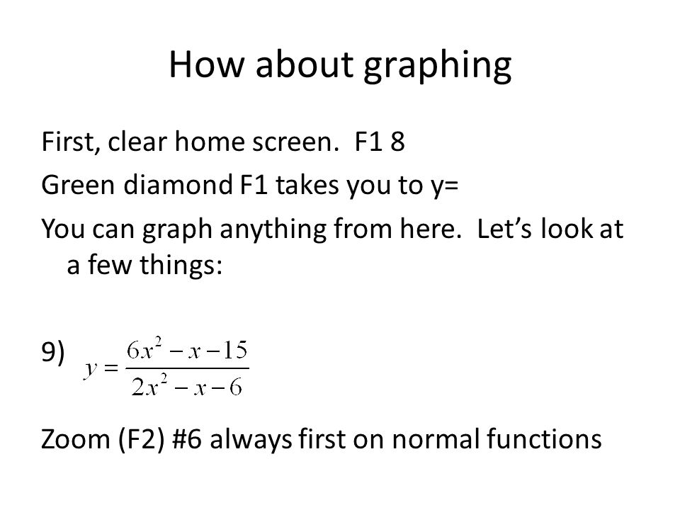 How about graphing