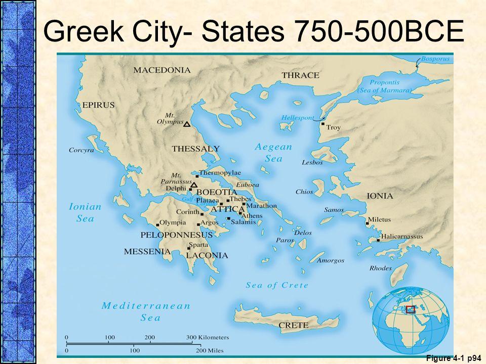 Greek City- States 750-500BCE