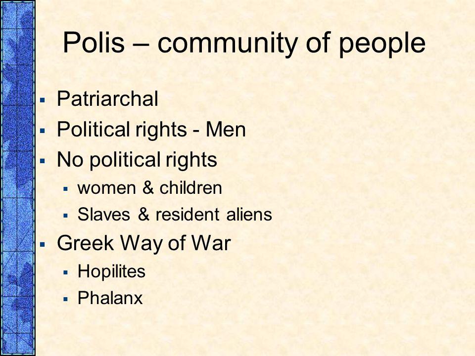 Polis – community of people