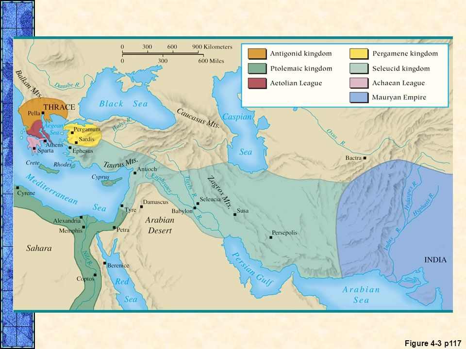 MAP 4. 3 The World of the Hellenistic Kingdoms