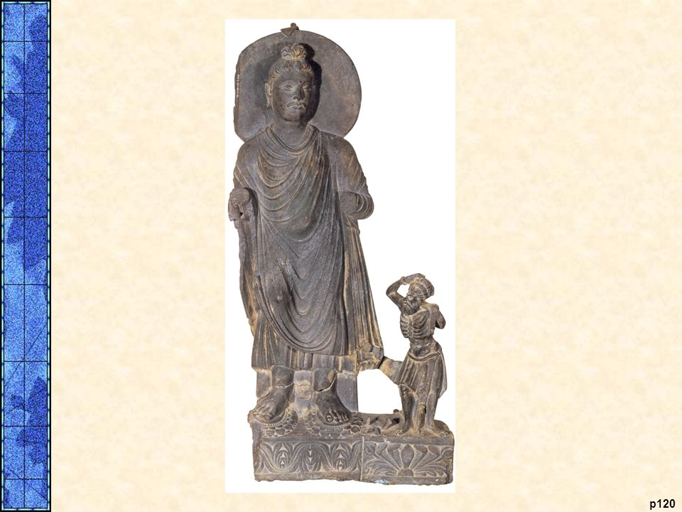 COMPARATIVE ILLUSTRATION Hellenistic Sculpture and a Greek-Style Buddha. Greek architects and sculptors were highly valued throughout the Hellenistic world. Shown on the left is a terra-cotta statuette of a draped young woman, made as a tomb offering nearThebes, probably around 300 B.C.E. The incursion of Alexander into western India resulted in some Greek cultural influences there, especially during the Hellenistic era. During the first century B.C.E., Indian sculptors in Gandhara, which today is part