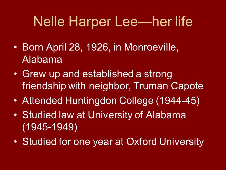 Nelle Harper Lee—her life