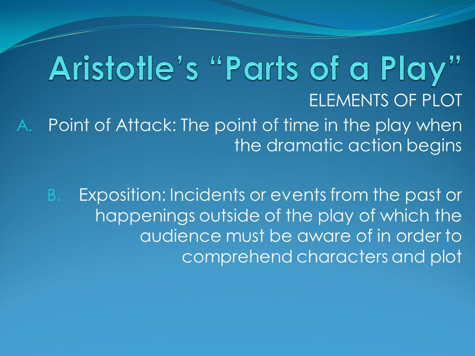 Aristotle's Parts of a Play