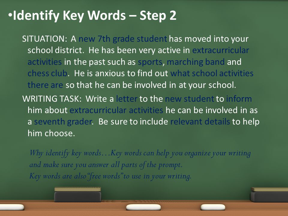 Identify Key Words – Step 2
