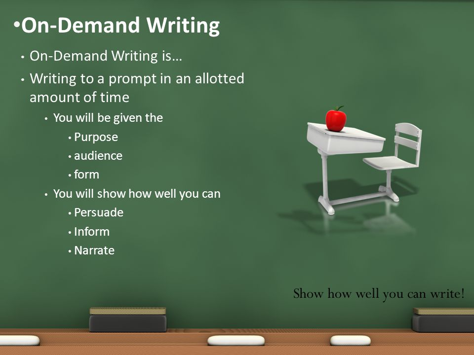 On-Demand Writing On-Demand Writing is…